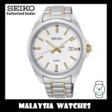 Seiko SUR279P1 Classic Quartz Analog White Dial Gold Hands & Index Stainless Steel Men's Watch