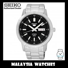 Seiko 5 SNKN55K1 Automatic Black Dial Silver Hands & Index Stainless Steel Bracelet Men's Watch