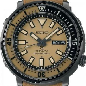 Seiko SRPE29K1 Prospex Street Series Urban Safari Automatic Beige Dial 200M Diver's Beige Silicone Strap Men's Watch