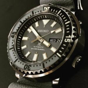 Seiko SRPE31K1 Prospex Street Series Urban Safari Automatic Grey Dial 200M Diver's Grey Silicone Strap Men's Watch