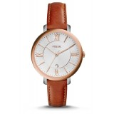 Fossil Women's ES3842 Jacqueline Cedar Tan Leather Watch (Rose Gold & Tan)