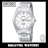 Seiko SGG713P1 Quartz Analog Day & Date Sapphire White Dial Stainless Steel Men's Watch
