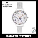 (OFFICIAL WARRANTY) Olivia Burton OB16AR09 Quartz Artisan Floral Dial Rose Gold-Tone Hands & Index Stainless Steel Mesh Ladies Watch
