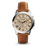 Fossil Men's FS5118 Grant Chronograph Light Brown Leather Watch (Light Brown)