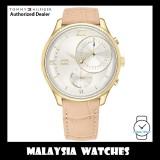 (100% Original) Tommy Hilfiger 1782129 Meg Quartz White Dial Gold-Tone Case Pink Brown Leather Strap Ladies Watch  (2 Years International Warranty)