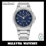 (100% Original) Tommy Hilfiger 1791648 Princeton Quartz Blue Dial Silver-Tone Stainless Steel Men's Watch (2 Years International Warranty)