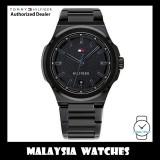 (100% Original) Tommy Hilfiger 1791649 Princeton Quartz Black Dial Black Stainless Steel Men's Watch (2 Years International Warranty)