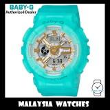 (OFFICIAL WARRANTY) Casio Baby-G BA-110SC-2A Sea Glass Series Analog Digital Matte Blue Semi Transparent Resin Watch BA110SC BA-110SC BA110SC-2A BA-110SC-2ADR