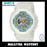 (OFFICIAL WARRANTY) Casio Baby-G BA-110SC-7A Sea Glass Series Analog Digital Matte White Semi Transparent Resin Watch BA110SC BA-110SC BA110SC-7A BA-110SC-7ADR