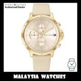 (100% Original) Tommy Hilfiger 1782192 Madison Multifunction Cream Gold Dial Beige Leather Strap Women's Watch (2 Years International Warranty)