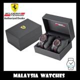 (100% Original) Scuderia Ferrari 0870017 RedRev Analog Quartz Black Resin Black / Red Silicone Strap Gift Set Watch (2 Years International Warranty)