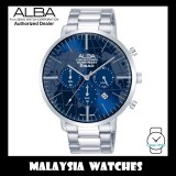 ALBA AT3G73X Quartz Analog Chronograph Blue Dial Curved Mineral Crystal Glass Stainless Steel Watch AT3G73 AT3G73X1 (from SEIKO Watch Corporation)