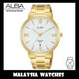 ALBA AS9L20X Quartz Analog Silver White Dial Sapphire Glass Gold-Tone Stainless Steel Men's Watch AS9L20 AS9L20X1 (from SEIKO Watch Corporation)