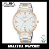 ALBA AS9L22X Quartz Analog Silver White Dial Sapphire Glass Two-Tone Stainless Steel Men's Watch AS9L22 AS9L22X1 (from SEIKO Watch Corporation)