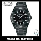 ALBA AS9L43X Quartz Analog Black Dial Mineral Glass Black-Tone Stainless Steel Men's Watch AS9L43 AS9L43X1 (from SEIKO Watch Corporation)