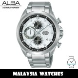 ALBA AM3787X Quartz Analog Chronograph Silver White Dial Stainless Steel Men's Watch AM3787 AM3787X1 (from SEIKO Watch Corporation)