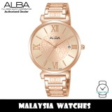 ALBA AG8K68X Quartz Analog Rose Gold Dial Mineral Crystal Glass Rose Gold-Tone Stainless Steel Ladies Watch AG8K68 AG8K68X1 (from SEIKO Watch Corporation)