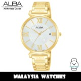 ALBA AG8K70X Quartz Analog Silver Dial Mineral Crystal Glass Gold-Tone Stainless Steel Ladies Watch AG8K70 AG8K70X1 (from SEIKO Watch Corporation)