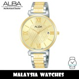 ALBA AG8K74X Quartz Analog Gold-Tone Dial Mineral Crystal Glass Two-Tone Stainless Steel Ladies Watch AG8K74 AG8K74X1 (from SEIKO Watch Corporation)