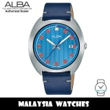 ALBA AS9K89X Fusion Quartz Analog Light Blue Dial Stainless Steel Case Blue Leather Strap Men's Watch AS9K89 AS9K89X1 (from SEIKO Watch Corporation)
