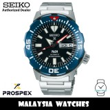 Seiko SRPE27K1 Prospex PADI Monster Divers 200m Automatic Black Dial Hardlex Crystal Glass Stainless Steel Men's Watch
