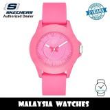 (OFFICIAL WARRANTY) Skechers SR6022 Rosencrans Mid-Size Quartz Analog Full Pink Silicone Strap Watch (2 Years Warranty)