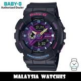 (OFFICIAL WARRANTY) Casio Baby-G BA-110TM-1A Decora Style Analog Digital Black Resin Watch BA110TM BA-110TM BA110TM-1A BA-110TM-1ADR