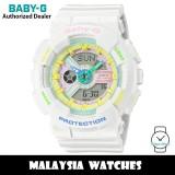 (OFFICIAL WARRANTY) Casio Baby-G BA-110TM-7A Decora Style Analog Digital White Resin Watch BA110TM BA-110TM BA110TM-7A BA-110TM-7ADR
