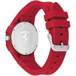 (100% Original) Scuderia Ferrari 0870044 Apex Couple Watch Set Black And Red Silicon Strap Watch (2 Years International Warranty)