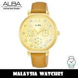 ALBA AP6680X Fashion Quartz Mineral Glass Light Champagne Dial Beige Leather Strap Women's Watch AP6680 AP6680X1 (from SEIKO Watch Corporation)