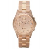 MARC BY MARC JACOBS MBM3074 Henry Chronograph Rose-Tone Stainless Steel Ladies Watch (Rose Gold)