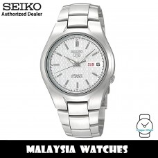 Seiko 5 SNK601K1 Automatic See-thru Back Silver Dial Silver-Tone Stainless Steel Men's Watch
