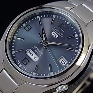 Seiko 5 SNK621K1 Automatic See-thru Back Grey Dial Silver-Tone Stainless Steel Men's Watch