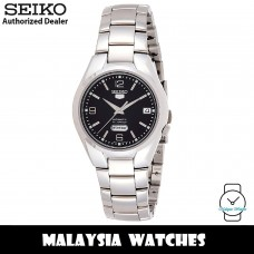 Seiko 5 SNK623K1 Automatic See-thru Back Black Dial Silver-Tone Stainless Steel Men's Watch