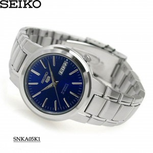 Seiko 5 SNKA05K1 Automatic See-thru Back Blue Dial Silver-Tone Stainless Steel Men's Watch