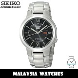 Seiko 5 SNKA23K1 Automatic See-thru Back Hardlex Crystal Glass Black Dial Silver-Tone Stainless Steel Men's Watch