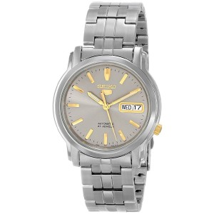 Seiko 5 SNKK67K1 Automatic See-thru Back Grey Dial Silver-Tone Stainless Steel Men's Watch