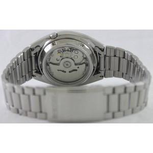 Seiko 5 SNXG47K1 Automatic See-thru Back White Dial Silver-Tone Stainless Steel Men's Watch