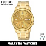 Seiko 5 SNKK20K1 Automatic See-thru Back Gold-Tone Dial Stainless Steel Men's Watch