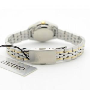 Seiko 5 SYMA35K1 Automatic White Dial Hardlex Crystal Glass Two-Tone Stainless Steel Women's Watch