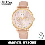 ALBA AP6678X Fashion Quartz Mineral Glass Light Pink Pattern Dial Pink Leather Strap Women's Watch AP6678 AP6678X1 (from SEIKO Watch Corporation)