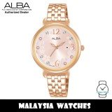 ALBA AH7V92X Fashion Quartz Mineral Glass Light Pink Pattern Dial Pink Stainless Steel Strap Women's Watch AH7V92 AH7V92X1 (from SEIKO Watch Corporation)
