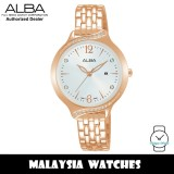ALBA AH7W06X Fashion Quartz Mineral Glass Silver White Dial Rose Gold-Tone Stainless Steel Strap Women's Watch AH7W06 AH7W06X1 (from SEIKO Watch Corporation)