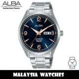 ALBA AL4157X Prestige Automatic Mineral Glass Blue Dial Stainless Steel Men's Watch AL4157 AL4157X1 (from SEIKO Watch Corporation)