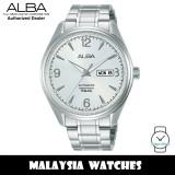 ALBA AL4161X Prestige Automatic Mineral Glass Silver White Dial Stainless Steel Men's Watch AL4161 AL4161X1 (from SEIKO Watch Corporation)