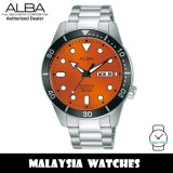 ALBA AL4163X Prestige Automatic Mineral Glass Orange Dial Stainless Steel Men's Watch AL4163 AL4163X1 (from SEIKO Watch Corporation)