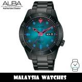 ALBA AL4175X Tokyo Neon Automatic Mineral Glass Blue & Black Gradation Dial Stainless Steel Men's Watch AL4175 AL4175X1 (from SEIKO Watch Corporation)
