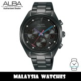 ALBA AT3H01X Tokyo Neon Chronograph Mineral Glass Black Pattern Dial Stainless Steel Women's Watch AT3H01 AT3H01X1 (from SEIKO Watch Corporation)