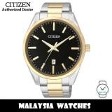 (100% Original) Citizen BI1034-52E Quartz Analog Black Dial Mineral Glass Two-Tone Stainless Steel Men's Watch