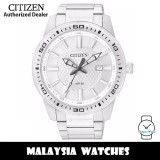 (100% Original) Citizen BI1060-52A Quartz Analog Silver Dial Mineral Glass Stainless Steel Men's Watch